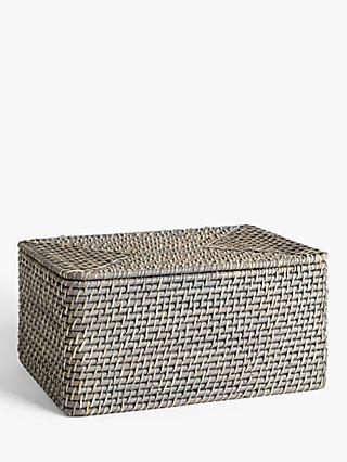 John Lewis & Partners Modern Country Rattan Lidded Storage Box