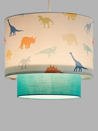 little home at John Lewis Dennis Dinosaur 2-Tier Easy-to-Fit Ceiling Shade, Multi