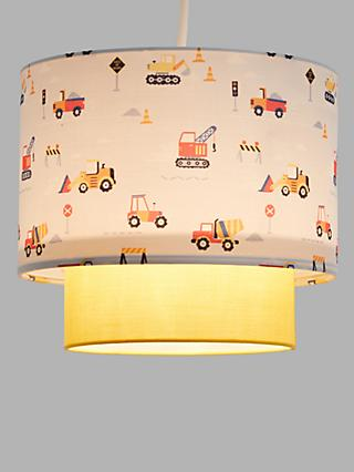 little home at John Lewis Construction 2-Tier Easy-to-Fit Ceiling Shade, Multi