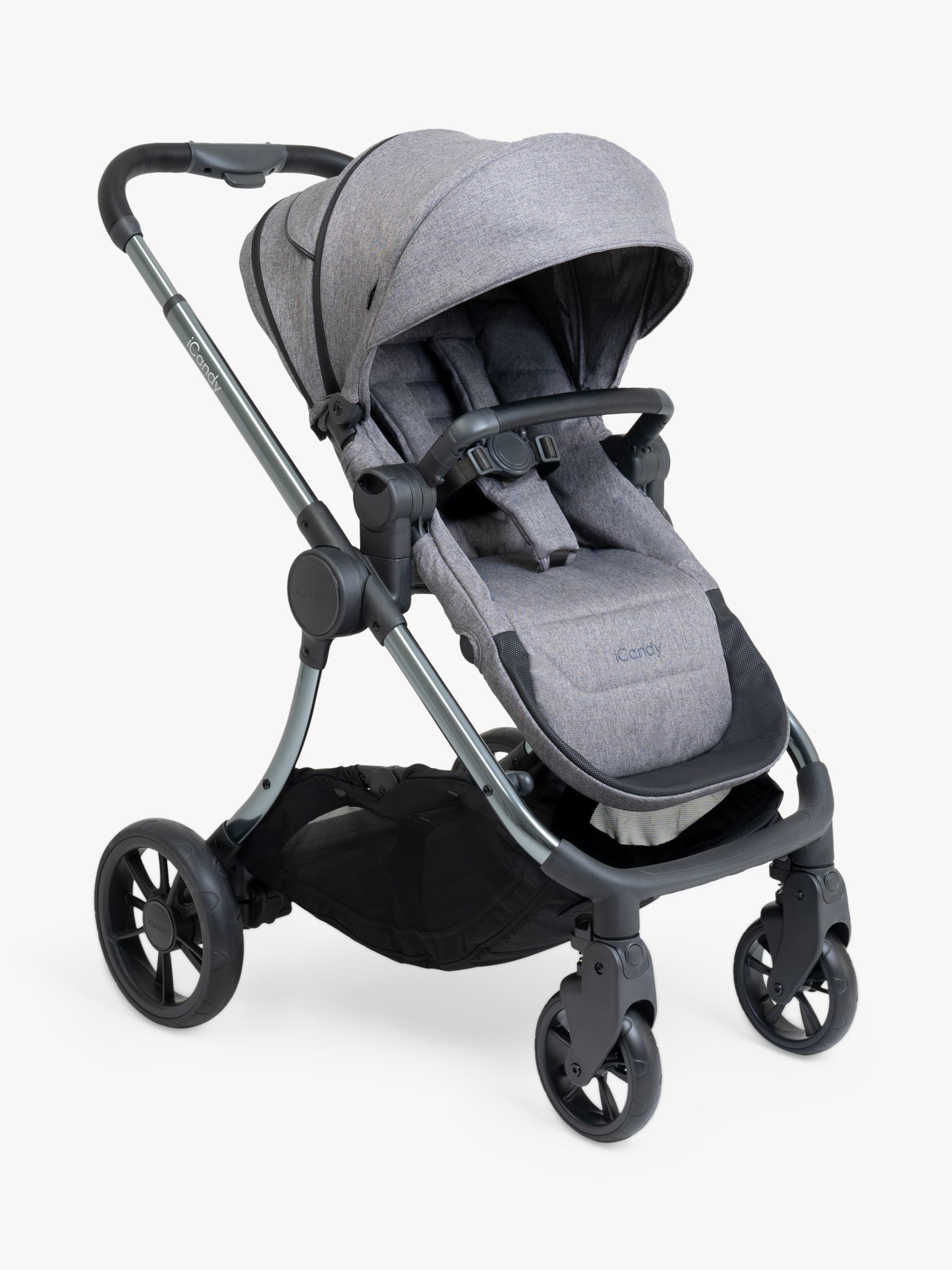 iCandy Lime Lifestyle Pushchair and Carrycot Bundle, Phantom Charcoal