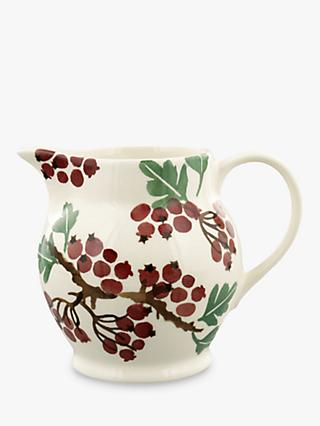 Emma Bridgewater Hawthorn Berries Half Pint Jug, 315ml, Red/Multi