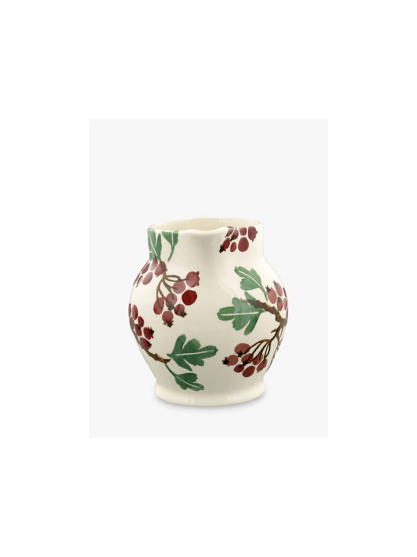 Buy Emma Bridgewater Hawthorn Berries Half Pint Jug, 315ml, Red/Multi Online at johnlewis.com