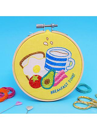 The Make Arcade Mini Breakfast Club Embroidery Hoop Kit