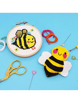 The Make Arcade Bumble Bee Embroidery and Badge Craft Kit