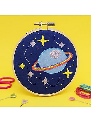 The Make Arcade Mini Galaxy Embroidery Hoop Kit