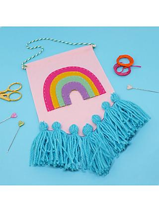 The Make Arcade Rainbow Banner Craft Kit