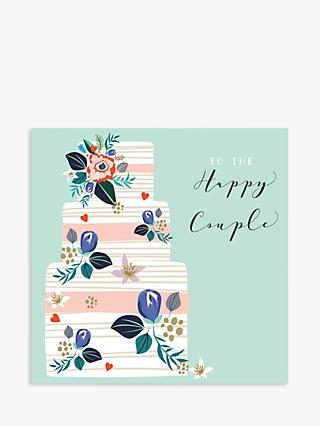 Laura Darrington Design Cake Happy Couple Wedding Card