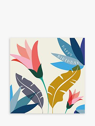Laura Darrington Design Flowers & Leaves Birthday Card