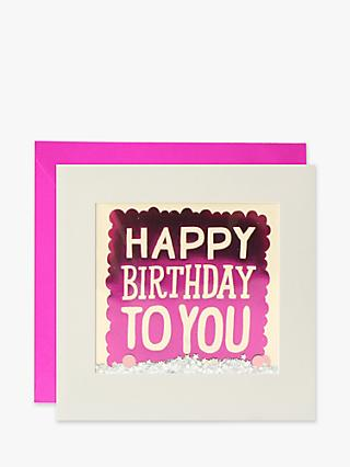 James Ellis Stevens Glitter Happy Birthday To You Birthday Card