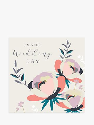 Laura Darrington Design Flowers Wedding Day Card
