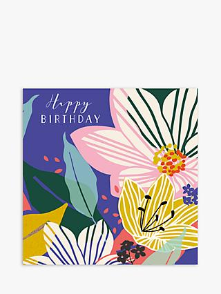 Laura Darrington Design Flowers Birthday Card