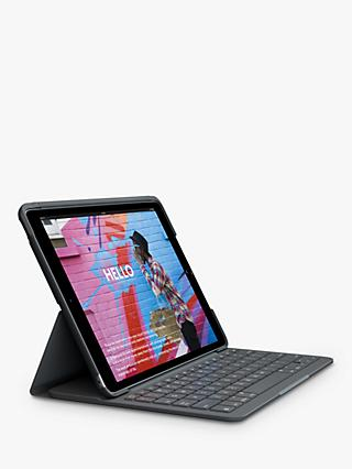 Logitech Slim Folio Bluetooth Keyboard for iPad 7th Gen, Graphite