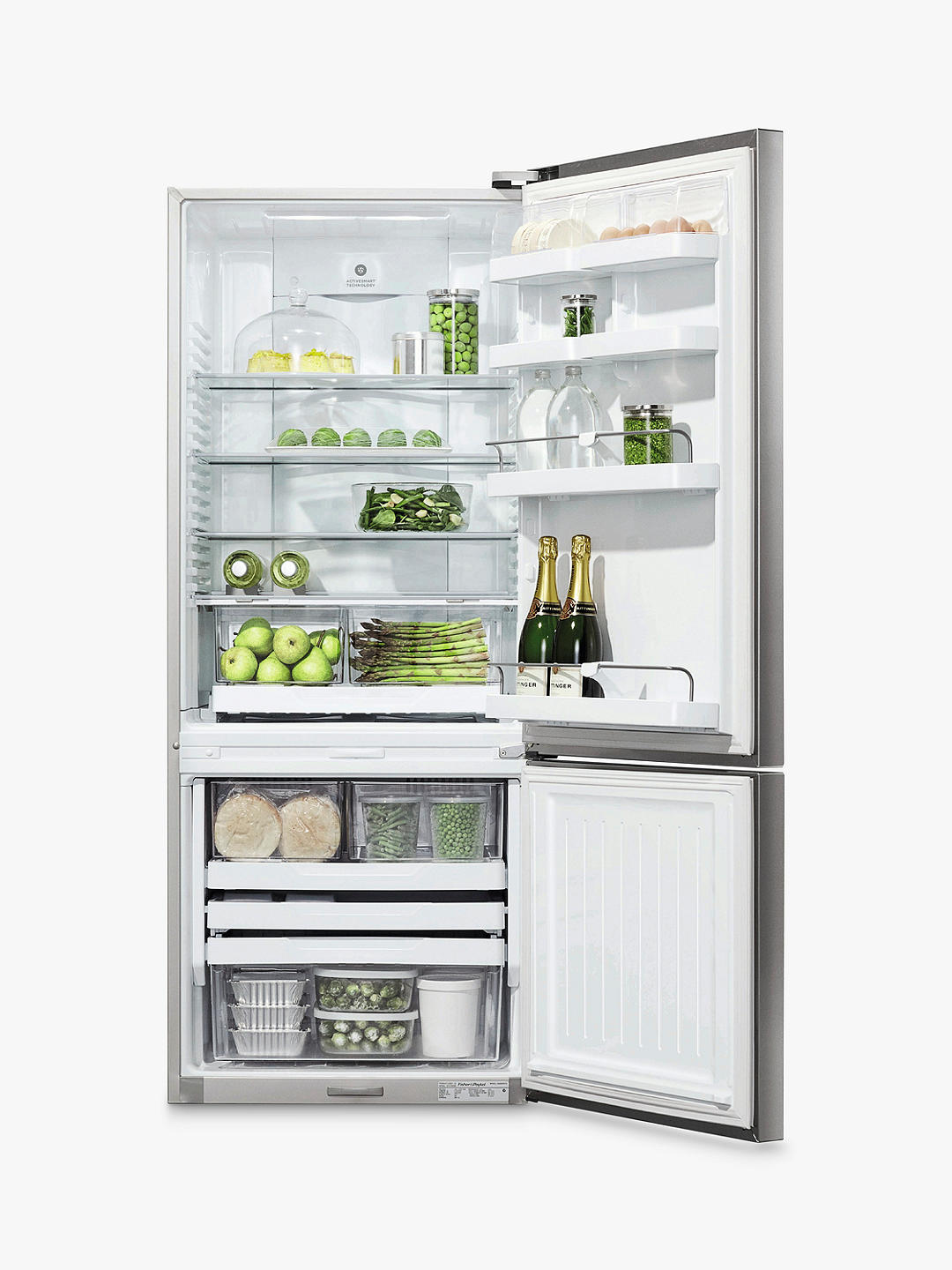 Buy Fisher & Paykel E442BRXFD4 Freestanding 70/30 Fridge Freezer, A+ Energy Rating, Right-Hand Hinge, 68cm Wide, Stainless Steel Online at johnlewis.com