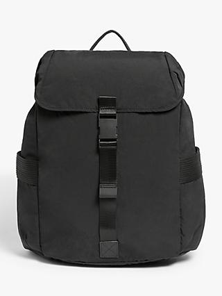 Kin Clip Nylon Backpack, Black