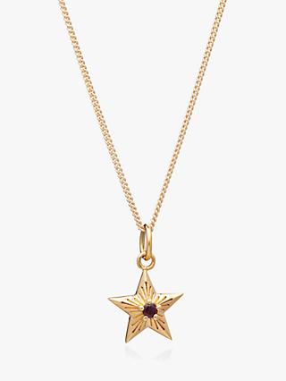 Rachel Jackson London Star Birthstone Pendant Necklace