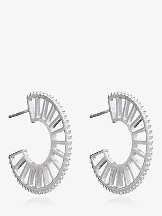 Rachel Jackson London Queen of Revelry Hoop Earrings, Silver