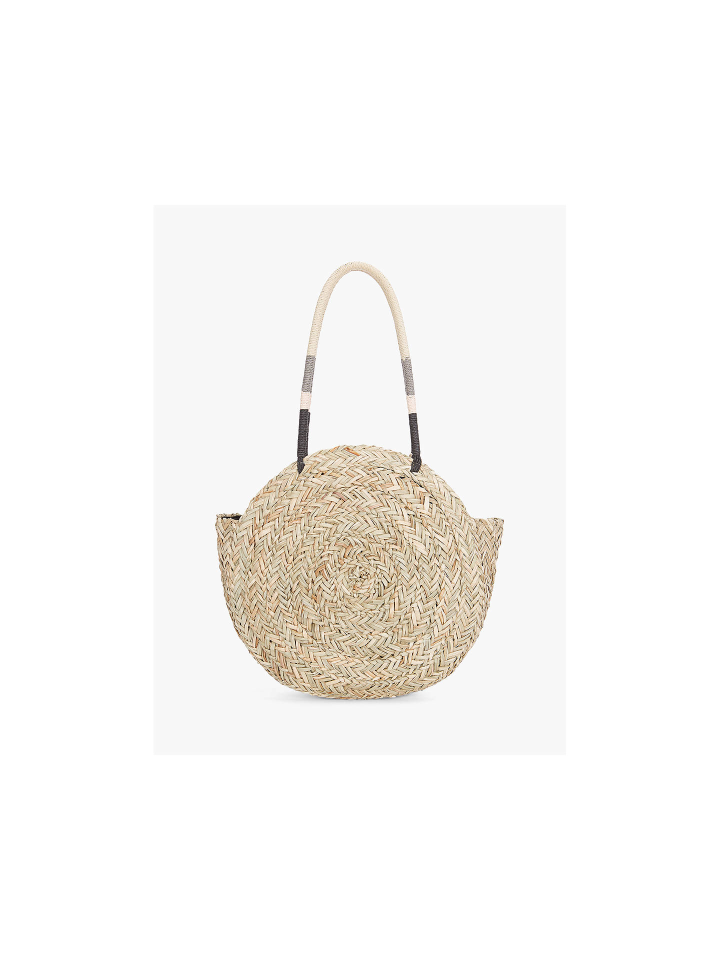 Buy Mint Velvet Mila Straw Shoulder Bag, Natural Online at johnlewis.com