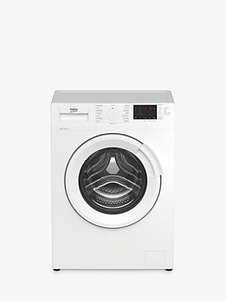 Beko WTL84131W Freestanding Washing Machine, 8kg Load, A+++ Energy Rating, 1400rpm Spin, White