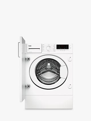 Beko WTIK84111F Integrated Washing Machine, 8kg Load, A+++ Energy Rating, 1400rpm Spin, White