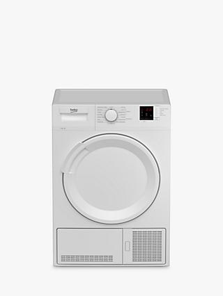 Beko DTLCE81031W Condenser Tumble Dryer, 8kg Load, B Energy Rating, White