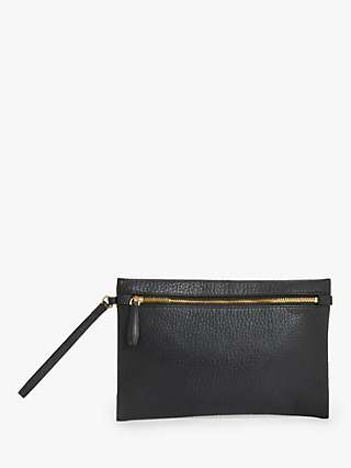 Modern Rarity Leather Clutch Bag, Black