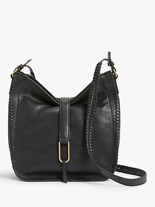 AND/OR Leather Whipstitch Hobo Bag