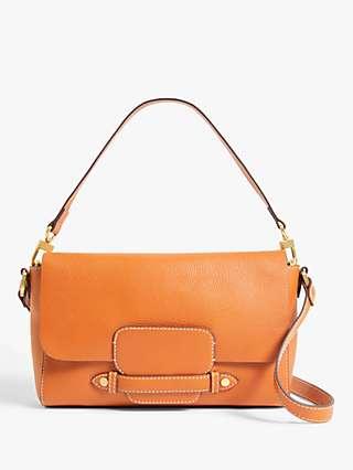 John Lewis & Partners Leather Soft East/West Cross Body Bag