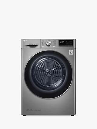 "LG Eco Hybridâ""¢ FDV909S Tumble Dryer, 9kg Load, A+++ Energy Rating, Graphite"