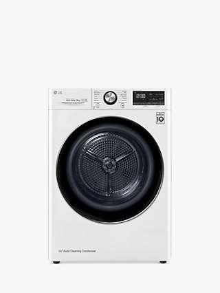 LG Eco Hybrid™ V900 FDV909W Tumble Dryer, 9kg Load, A+++ Energy Rating, White