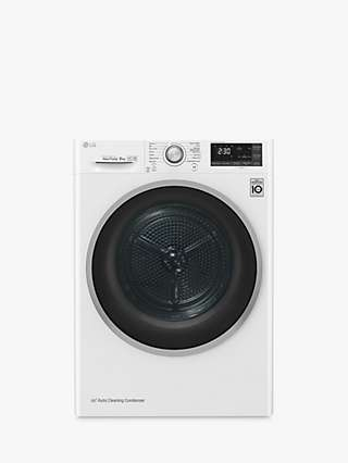 LG Eco Hybrid FDJ608W Freestanding Tumble Dryer, 8kg Load, A+++ Energy Rating, White