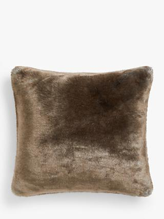 John Lewis & Partners Premium Faux Fur Cushion