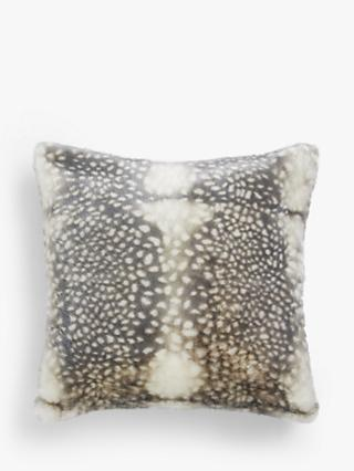 John Lewis & Partners Faux Reindeer Fur Cushion