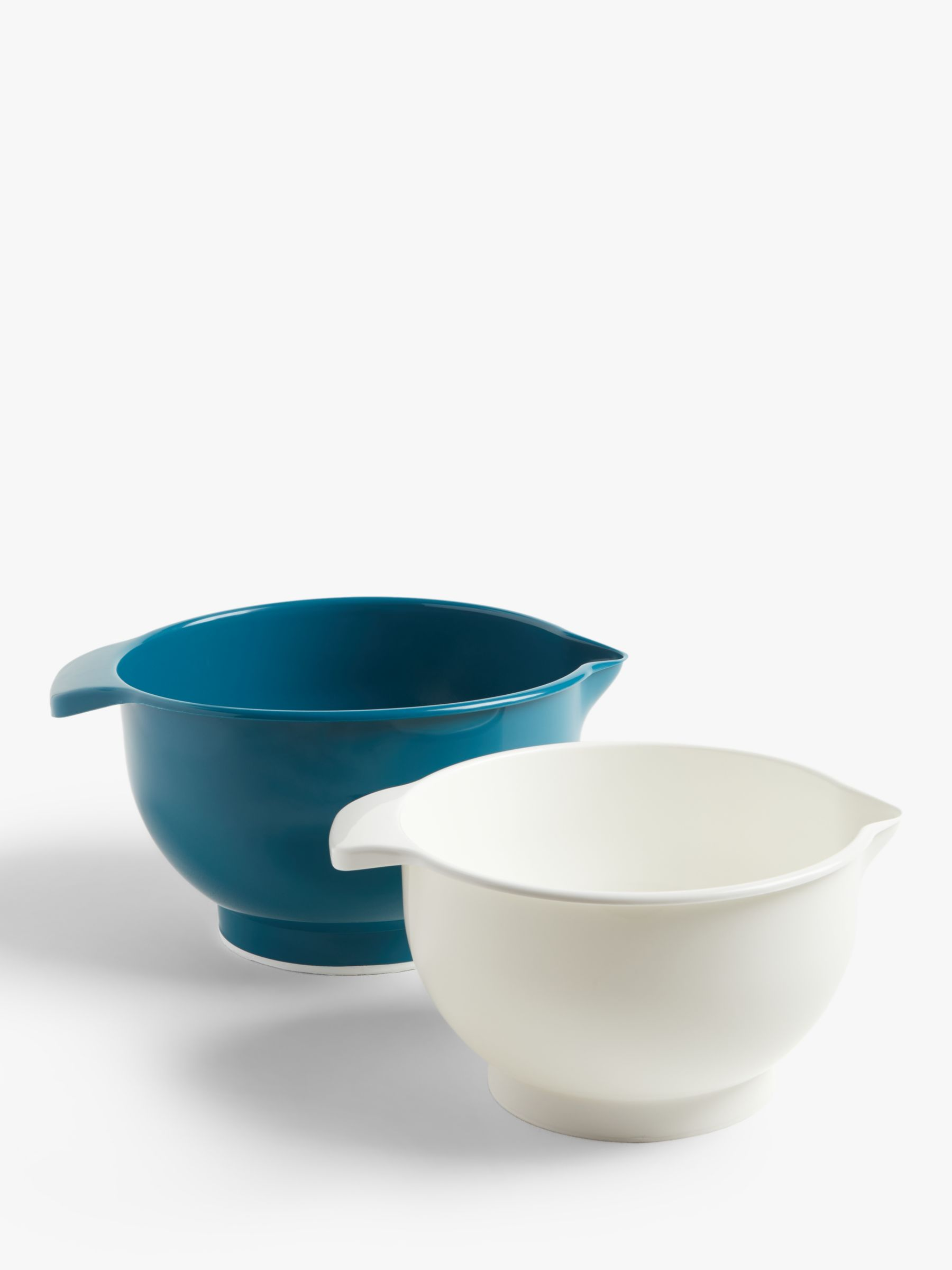 John Lewis & Partners Nesting Mixing Bowls, Set of 2, Teal/White