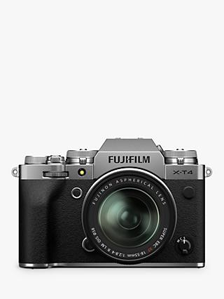 "Fujifilm X-T4 Compact System Camera with XF 18-55mm IS Lens, 4K Ultra HD, 26.1MP, Wi-Fi, Bluetooth, OLED EVF, 3"" LCD Touch Screen"
