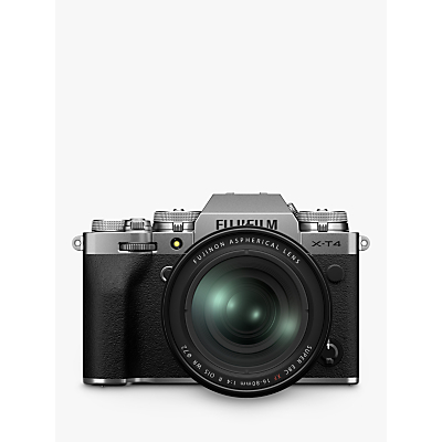 Fujifilm X-T4 Compact System Camera with XF 16-80mm IS Lens, 4K Ultra HD, 26.1MP, Wi-Fi, Bluetooth, OLED EVF, 3� LCD Touch Screen