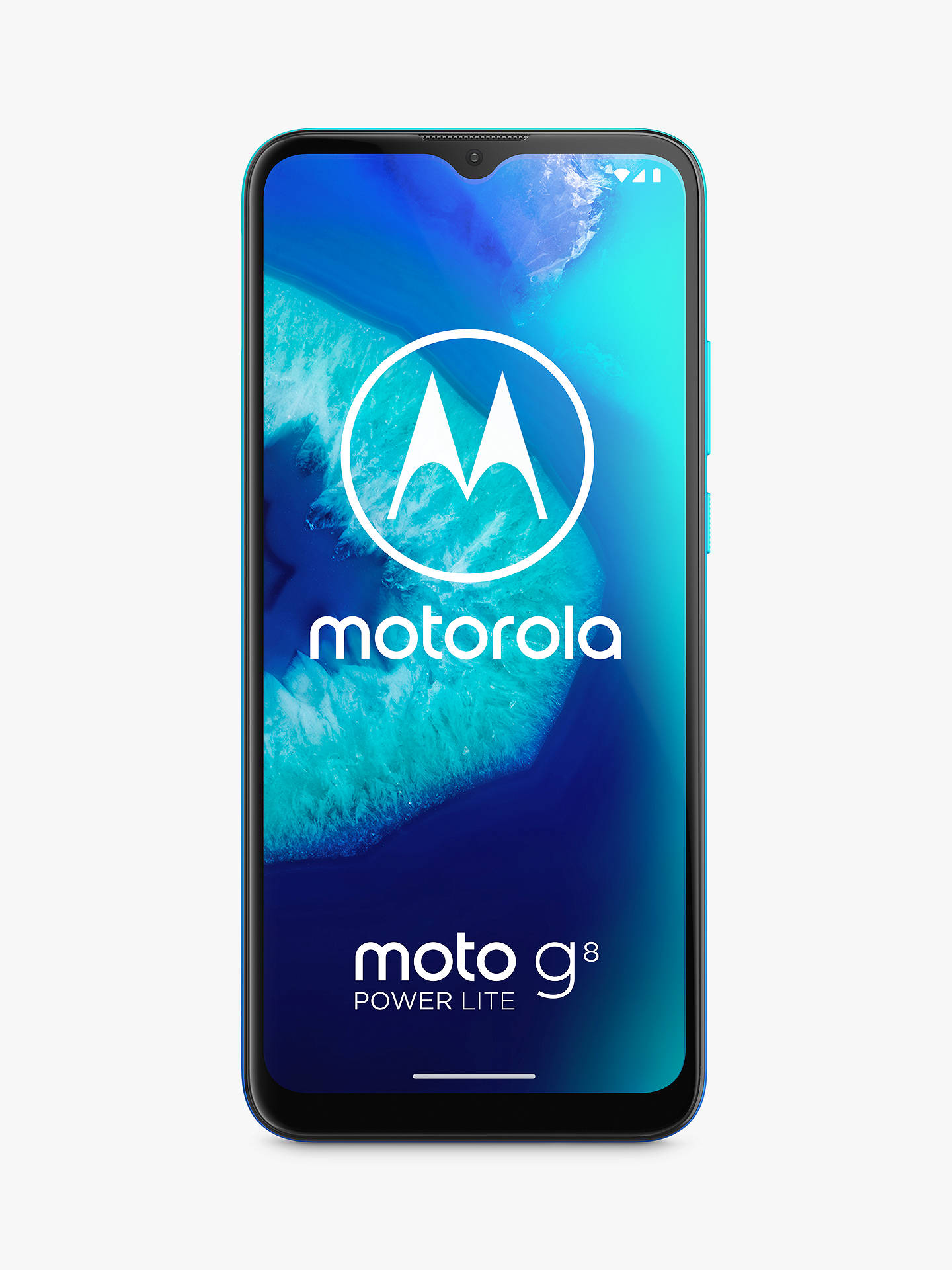 "Buy Motorola G8 Power Lite Smartphone, Android, 4GB RAM, 6.5"", 4G LTE, SIM Free, 64GB, Arctic Blue Online at johnlewis.com"