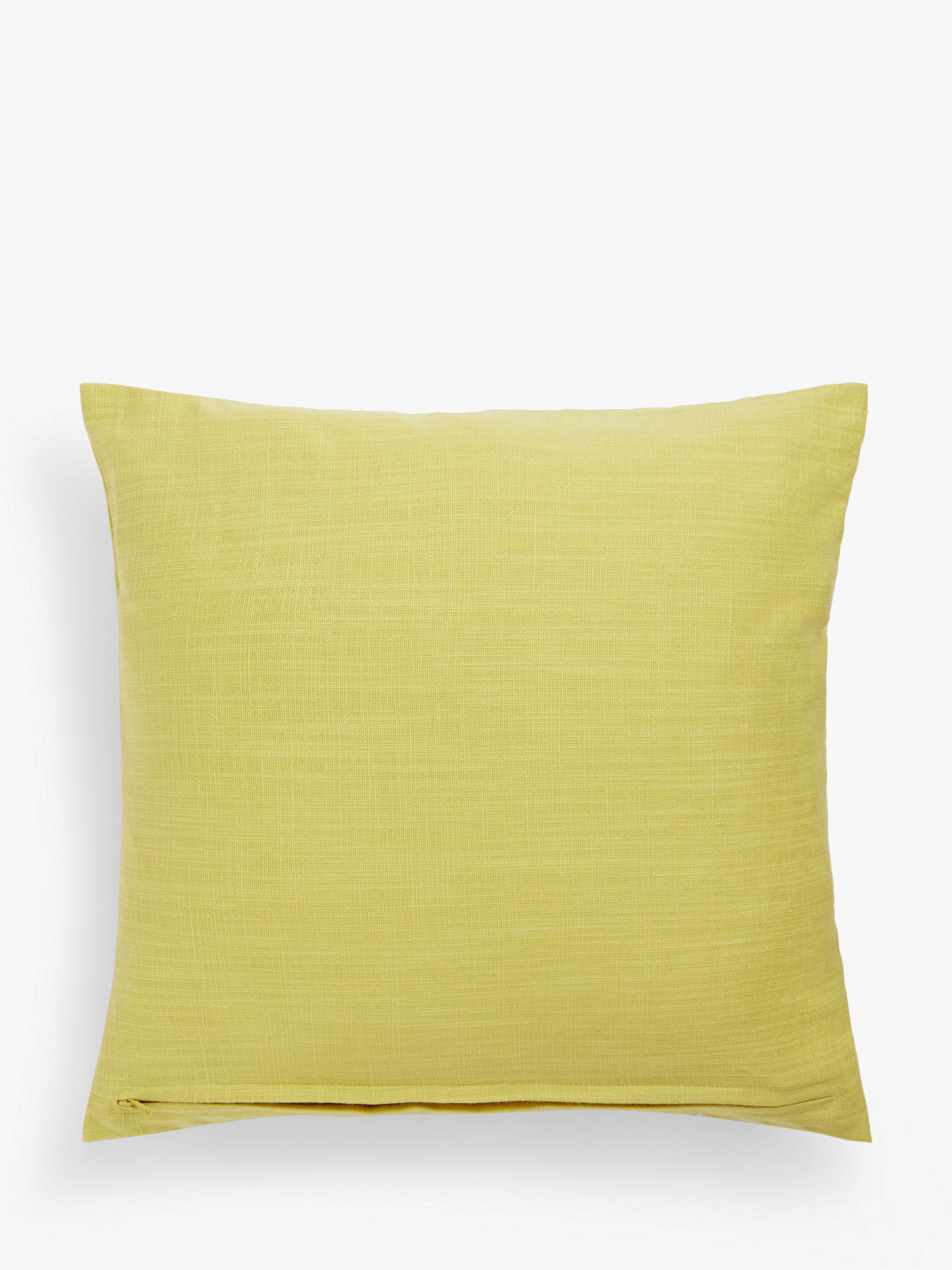 Buy John Lewis & Partners Cow Parsley Cushion, Yellow Online at johnlewis.com