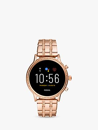 Fossil FTW6035 Women's Julianna HR Bracelet Strap Touch Screen Smartwatch, Rose Gold/Black