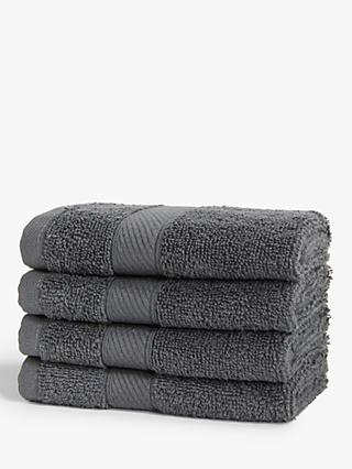 ANYDAY John Lewis & Partners Basic Light Cotton Face Cloths, Set of 4