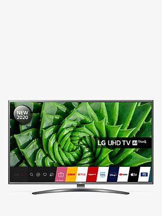 LG 50UN81006LB (2020) LED HDR 4K Ultra HD Smart TV, 50 inch with Freeview HD/Freesat HD & Crescent Stand, Light Grey Pearl