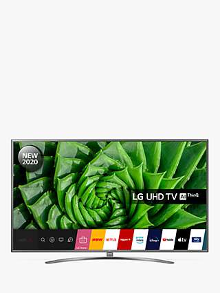 LG 75UN81006LB (2020) LED HDR 4K Ultra HD Smart TV, 75 inch with Freeview HD/Freesat HD & Crescent Stand, Light Grey Pearl