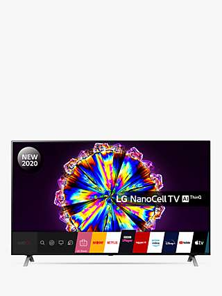 LG 55NANO906NA (2020) LED HDR NanoCell 4K Ultra HD Smart TV, 55 inch with Freeview HD/Freesat HD & Dolby Atmos, Dark Silver
