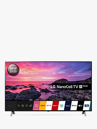 LG 65NANO906NA (2020) LED HDR NanoCell 4K Ultra HD Smart TV, 65 inch with Freeview HD/Freesat HD & Dolby Atmos, Dark Silver