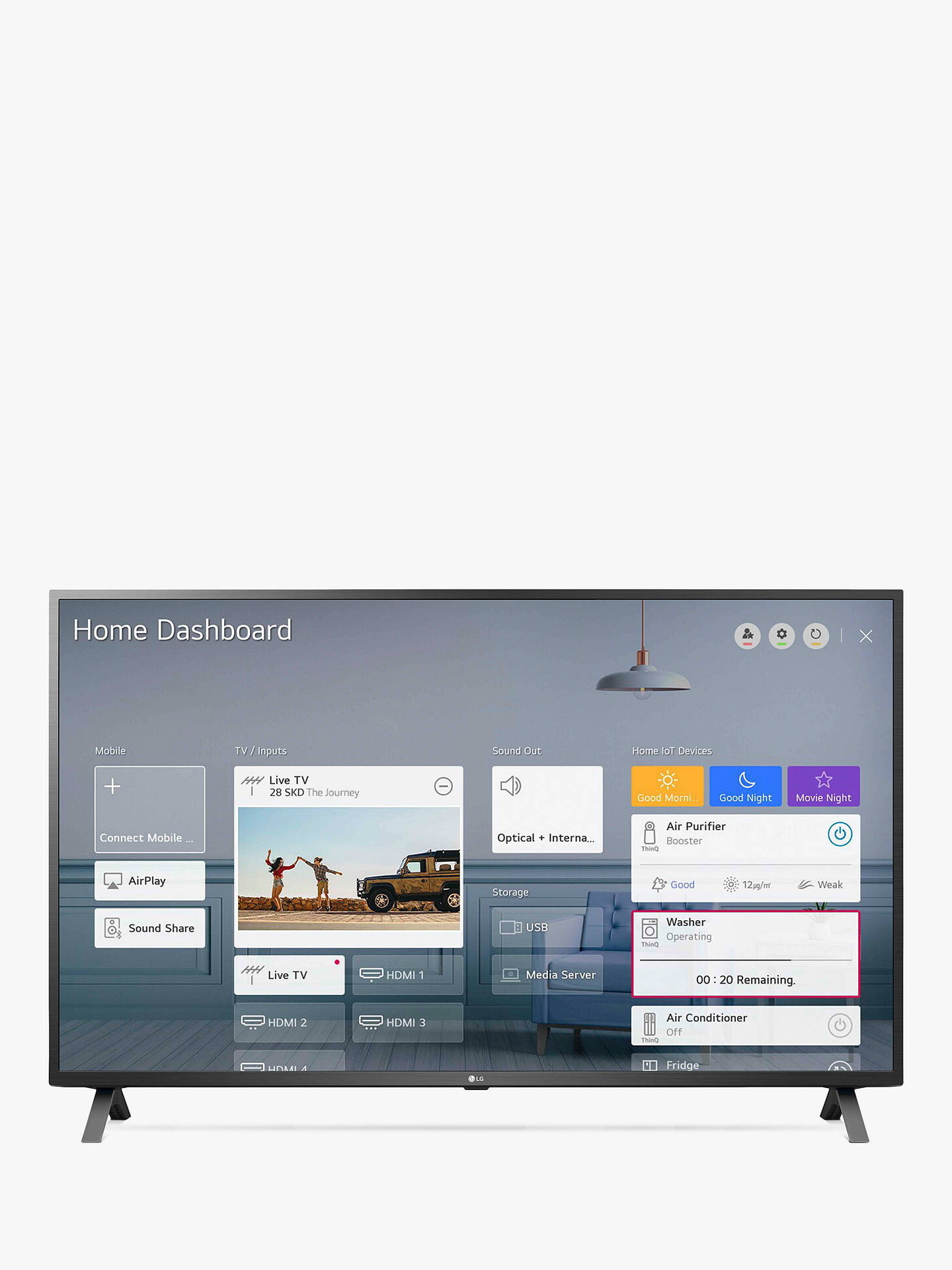 Buy LG 55UN73006LA (2020) LED HDR 4K Ultra HD Smart TV, 55 inch with Freeview HD/Freesat HD, Ceramic Black Online at johnlewis.com