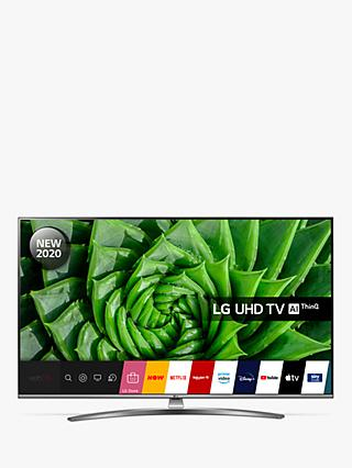 LG 55UN81006LB (2020) LED HDR 4K Ultra HD Smart TV, 55 inch with Freeview HD/Freesat HD & Crescent Stand, Light Grey Pearl