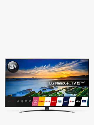 LG 65NANO866NA (2020) LED HDR NanoCell 4K Ultra HD Smart TV, 65 inch with Freeview HD/Freesat HD, Dolby Atmos & Crescent Stand, Light Black