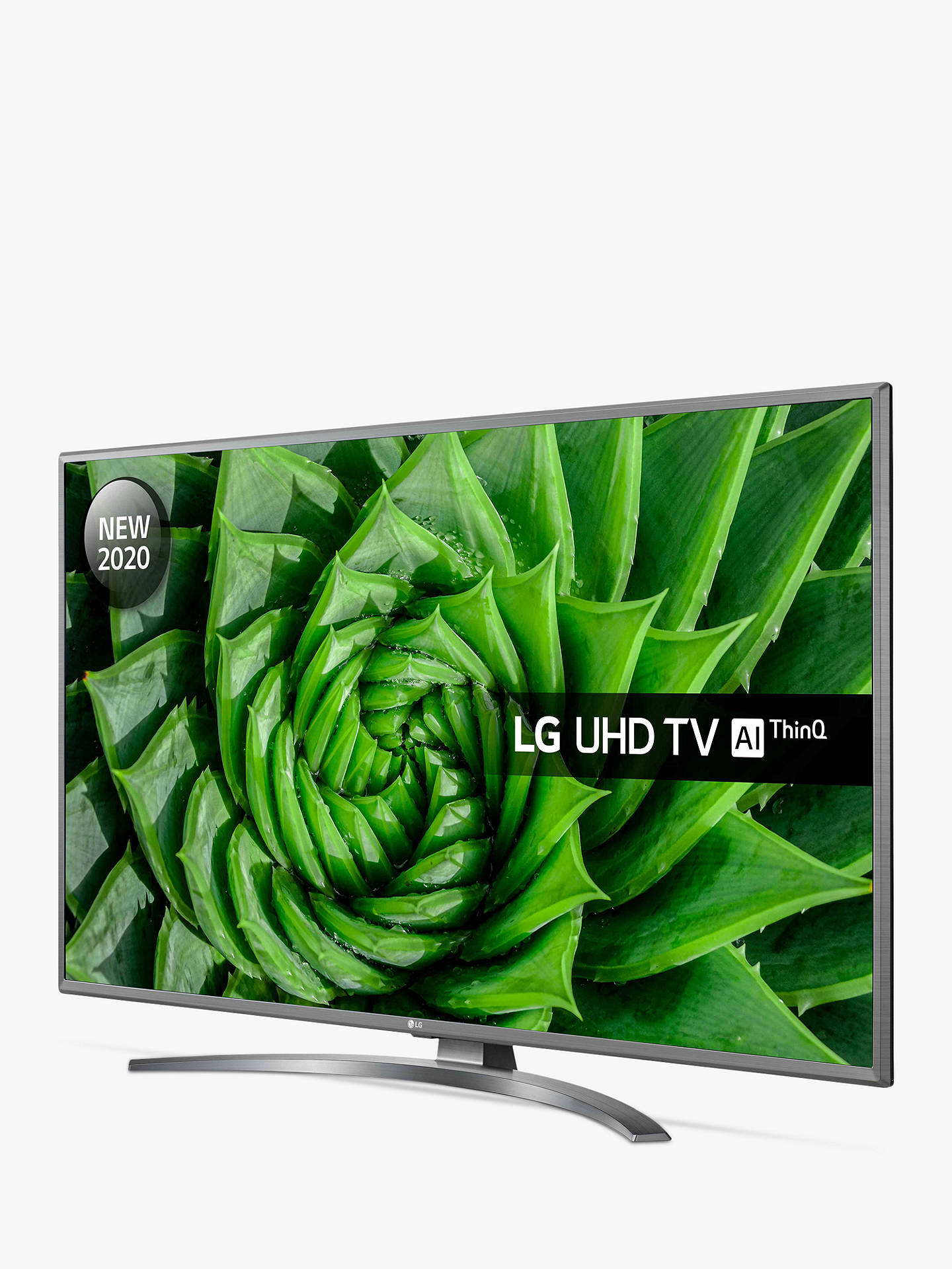 Buy LG 43UN81006LB (2020) LED HDR 4K Ultra HD Smart TV, 43 inch with Freeview HD/Freesat HD & Crescent Stand, Light Grey Pearl Online at johnlewis.com