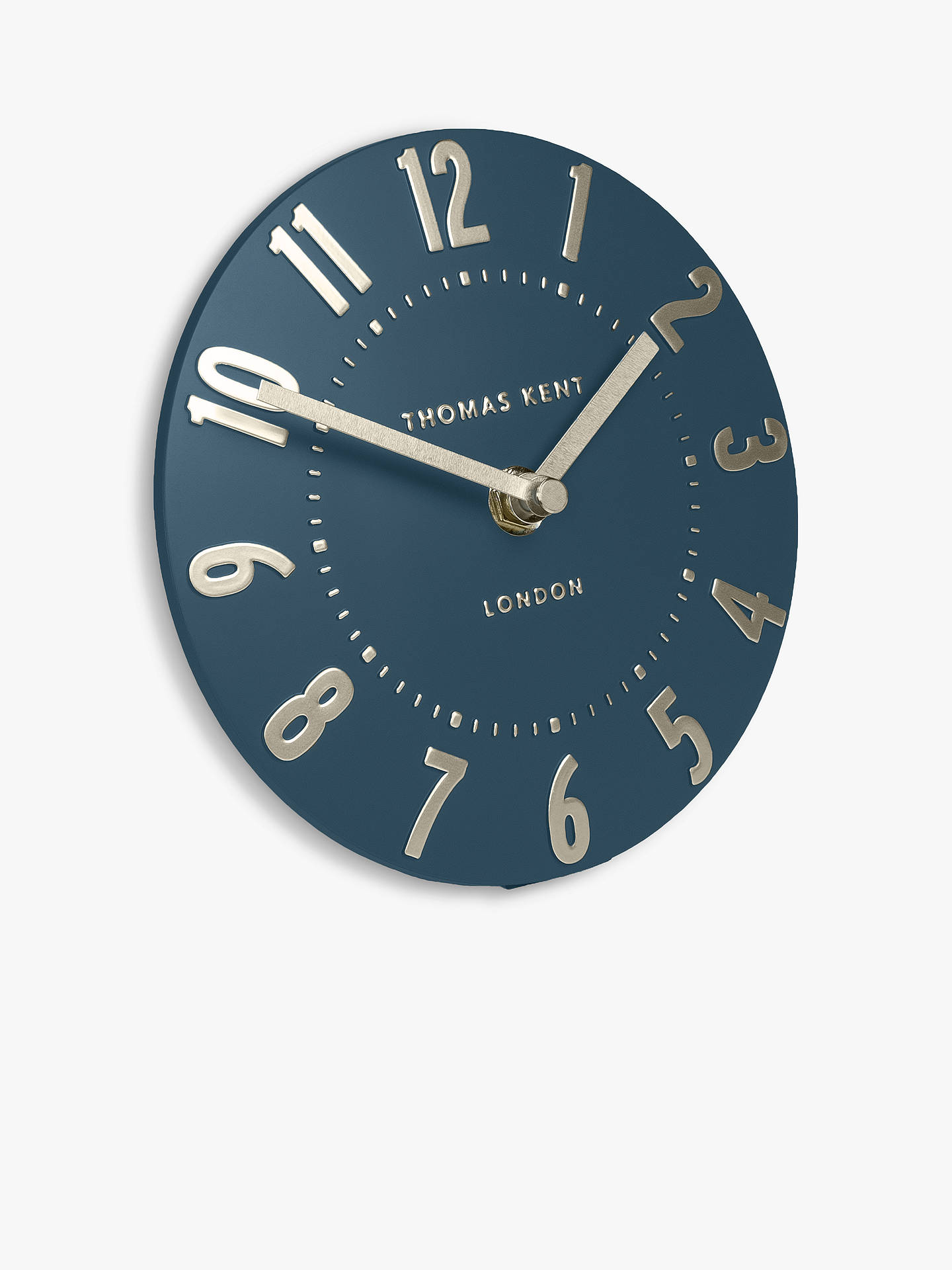 Buy Thomas Kent Mulberry Mantel Clock, 15cm, Midnight Blue Online at johnlewis.com