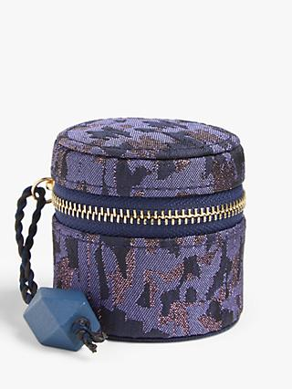 John Lewis & Partners Mini Jacquard Jewellery Box