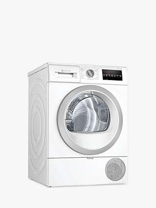 Bosch Serie 6 WTR87T82GB Freestanding Heat Pump Tumble Dryer, 8kg Load, A++ Energy Rating, White